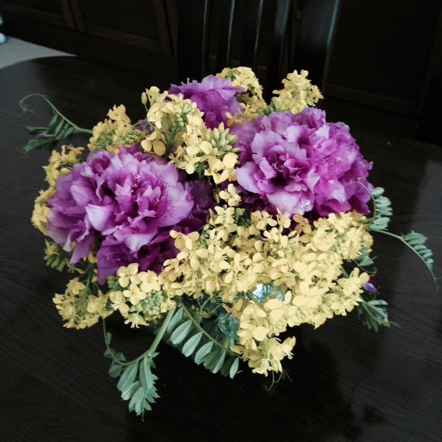つつじと菜の花