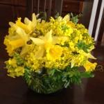 菜の花でテーブルフラワー