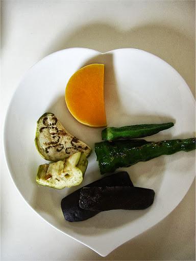 夏の蒸し野菜プレート