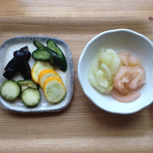 夏の小鉢 三五八漬けと酢のもの