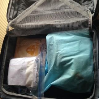 スーツケースに詰めてみた