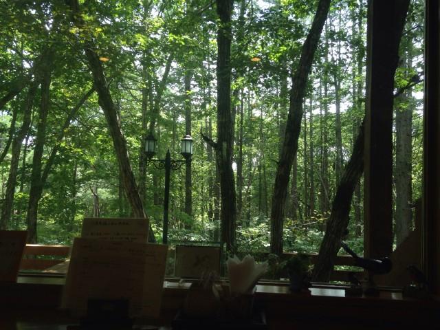 猪苗代・天鏡台にある癒しの窓からの風景