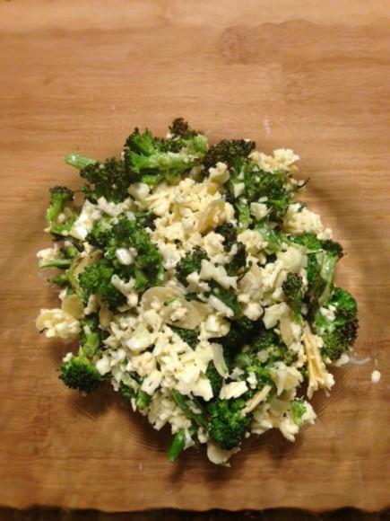 ブロッコリーとカリフラワーの生サラダ