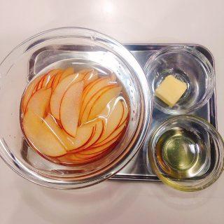 リンゴで作るバラのパイ材料