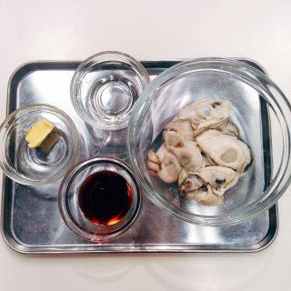 牡蠣と水菜のハリハリソテー材料