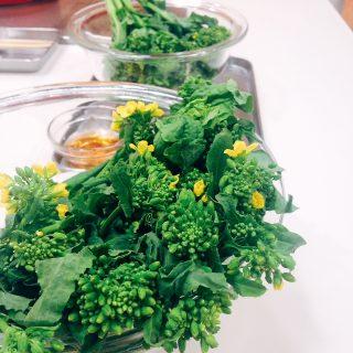 菜の花の韓国風細巻き