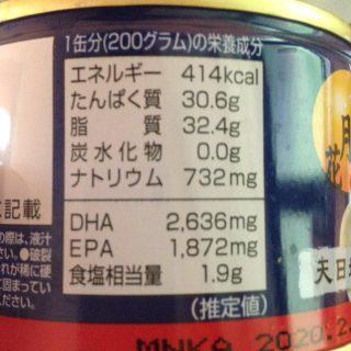サバ缶1缶の栄養素