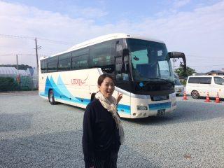 さくらんぼ狩り移動バス