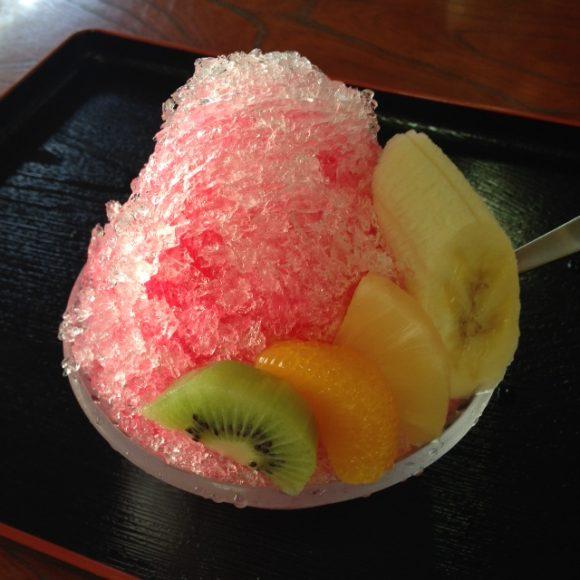 信夫山文庫のかき氷