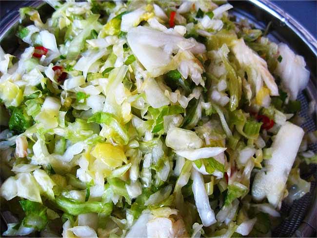 白菜とイタリアンパセリの塩もみ