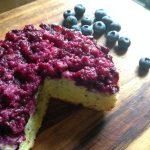 ブルーベリーのさかさまケーキ